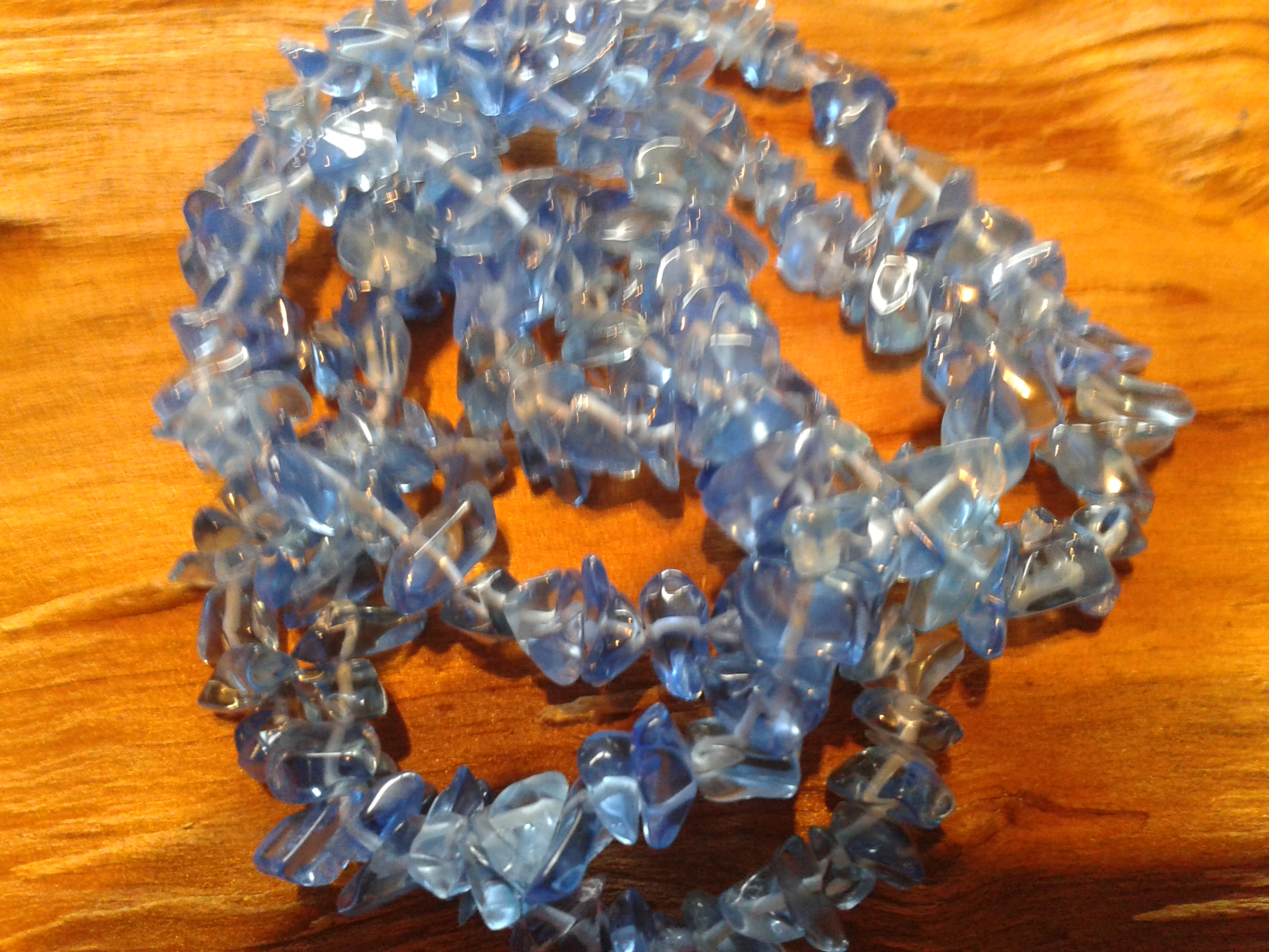 Glass Chip Blue Med Size