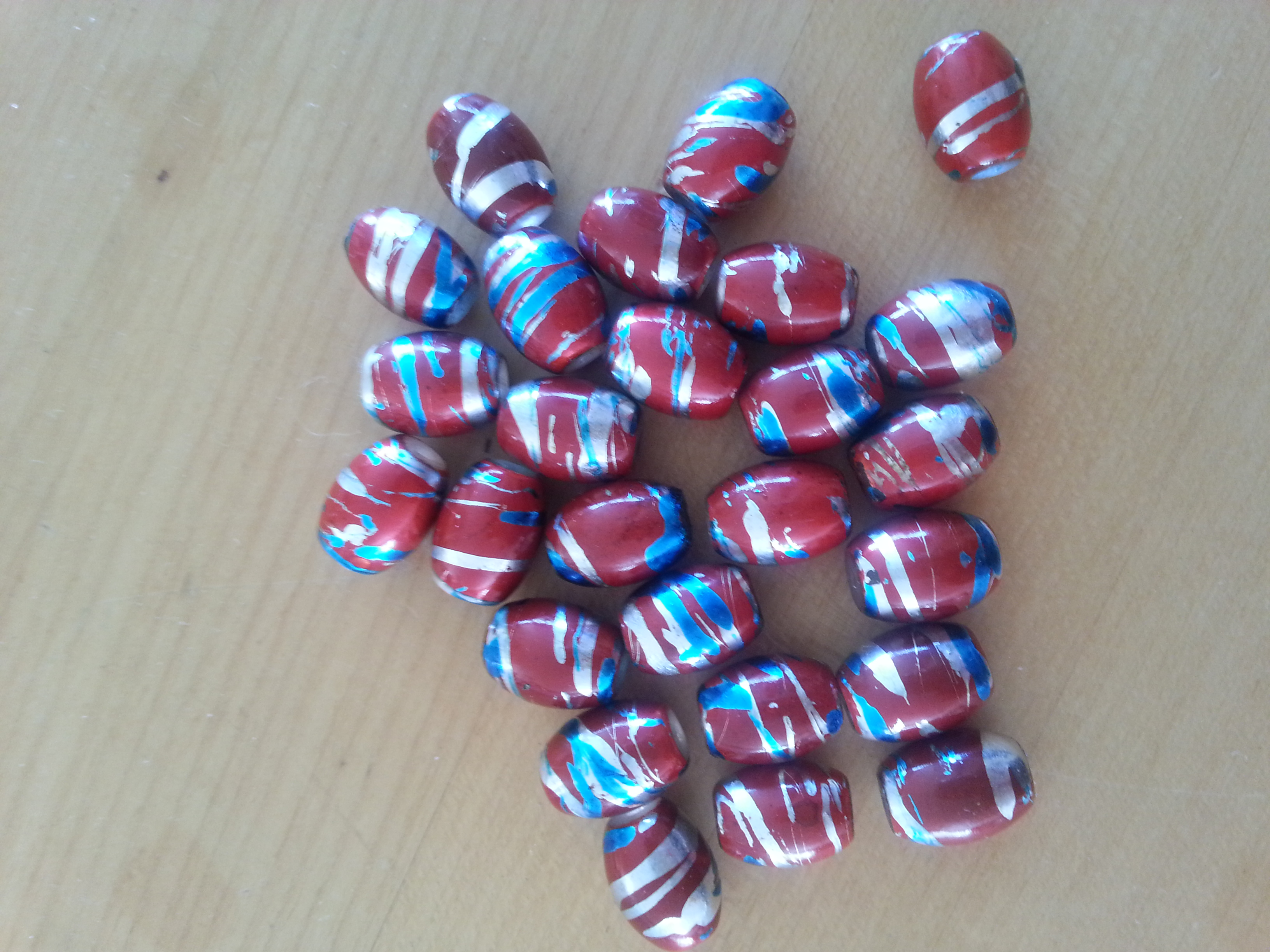 Czech  11mm Red Barrel Bead