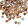 Glass Bead Mix Fall Colours 4mm Bicone