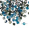 Glass Bead Mix Ocean Colours 4mm Bicone