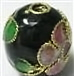 Black 6mm Round Cloisonne