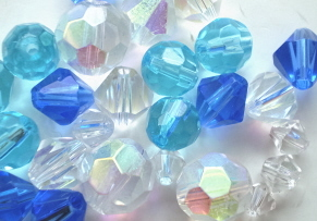 Blue Glass Crystal Mix