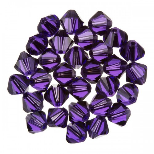 Swarovski Crystal Purple Velvet 6mm Bicone