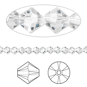 Swarovski Crystal Clear 6mm Bicone