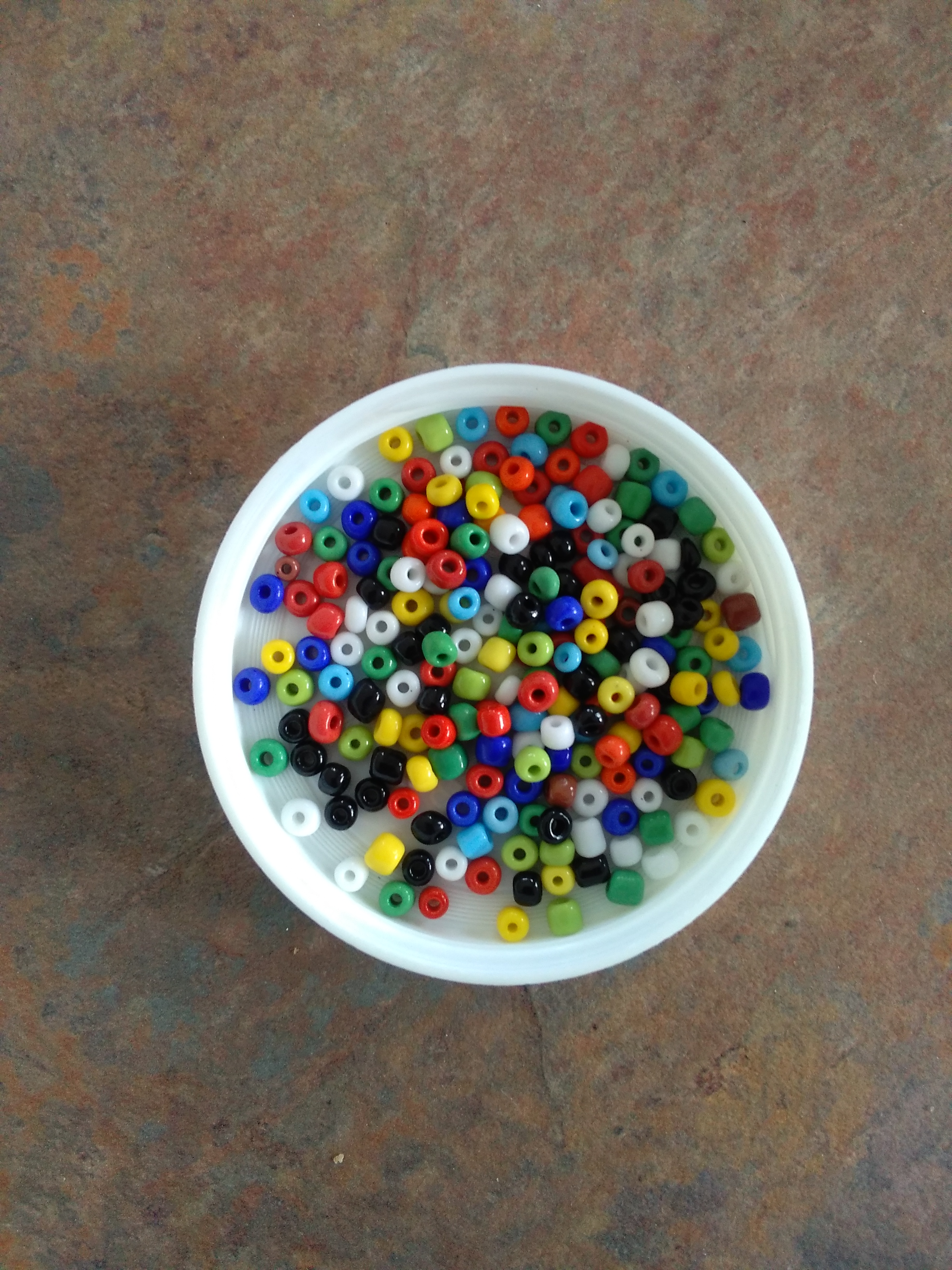 Mixed Colours 6/0 Seed Beads