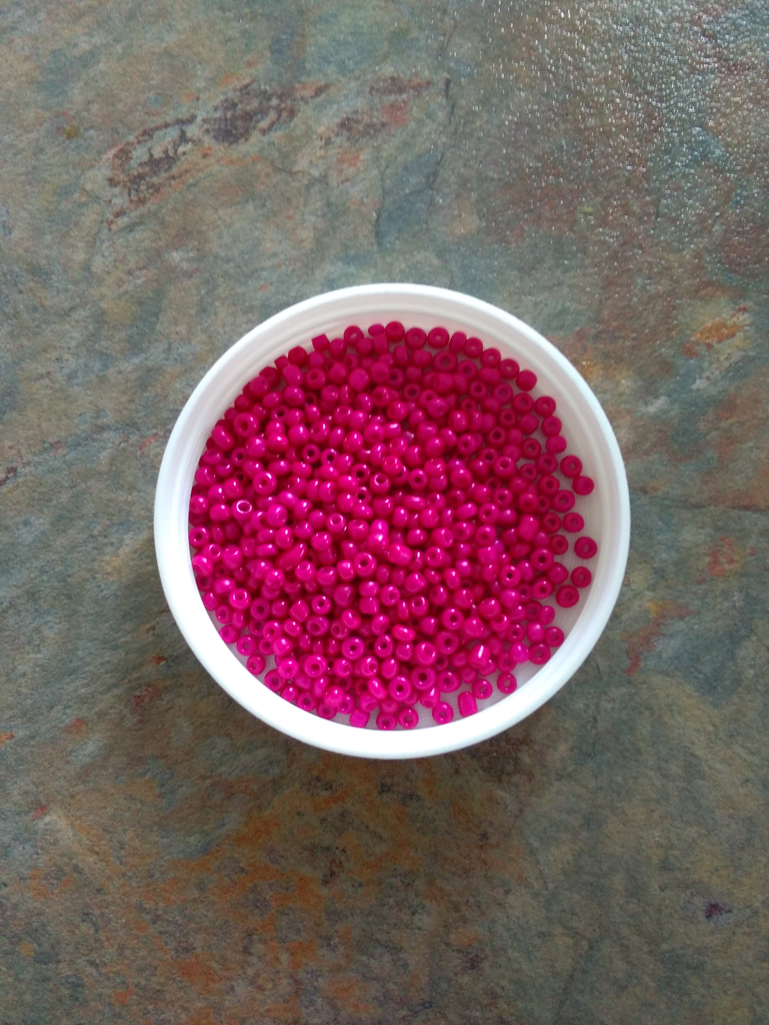 Hot Pink 8/0 Seed Beads