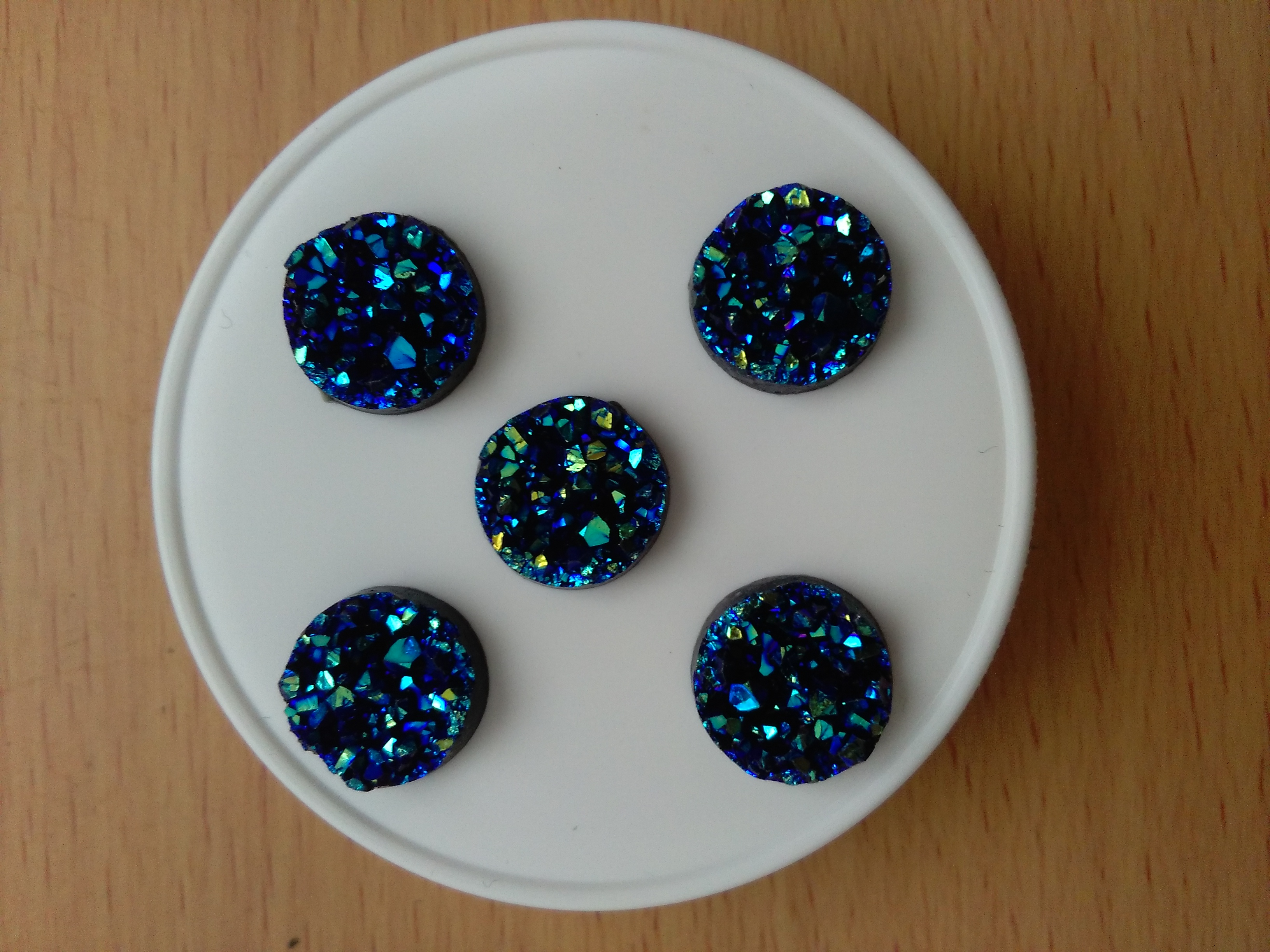 Royal Blue Druzy Cabochon 12mm