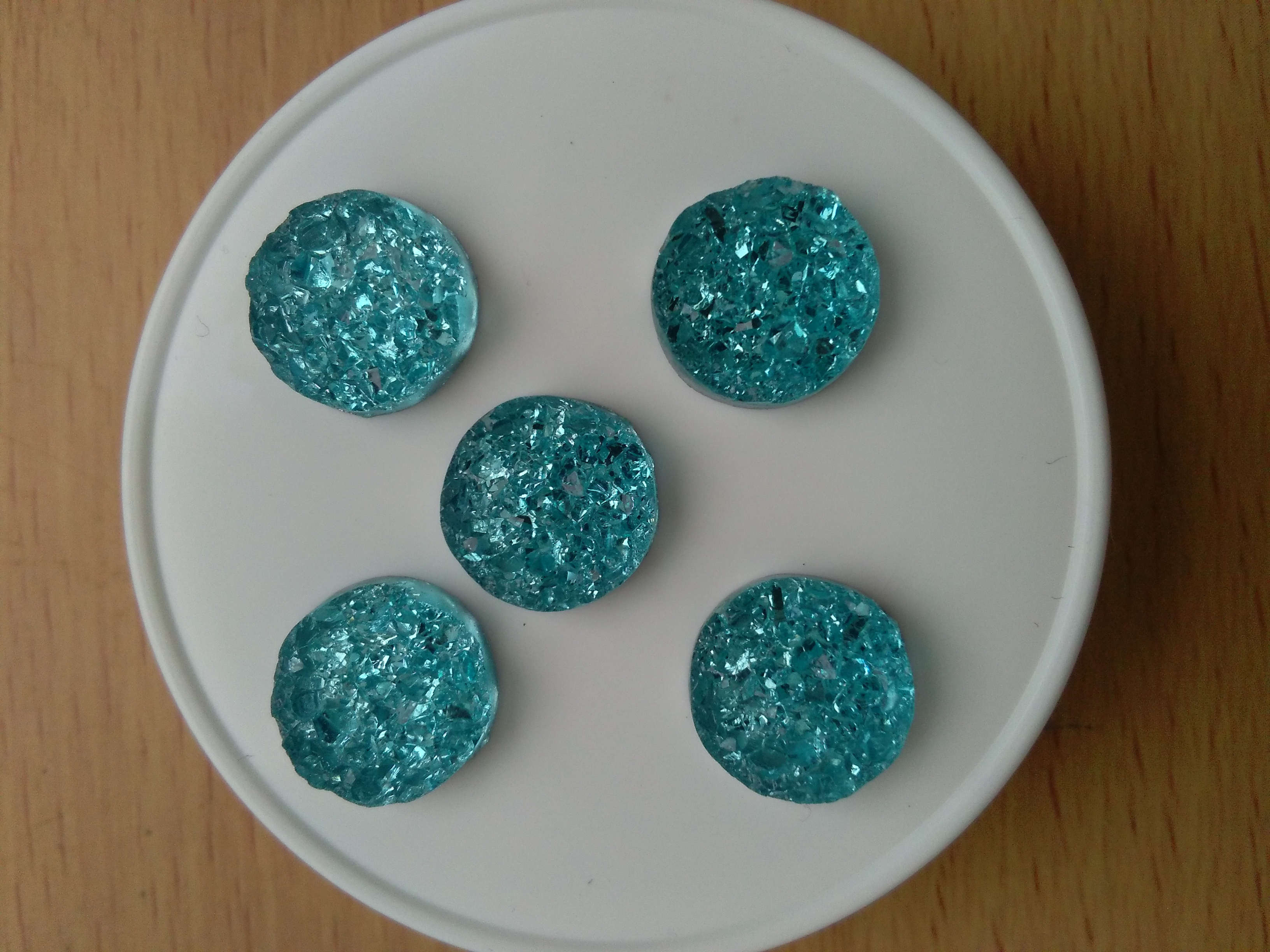 Turquoise Druzy Cabochon 12mm