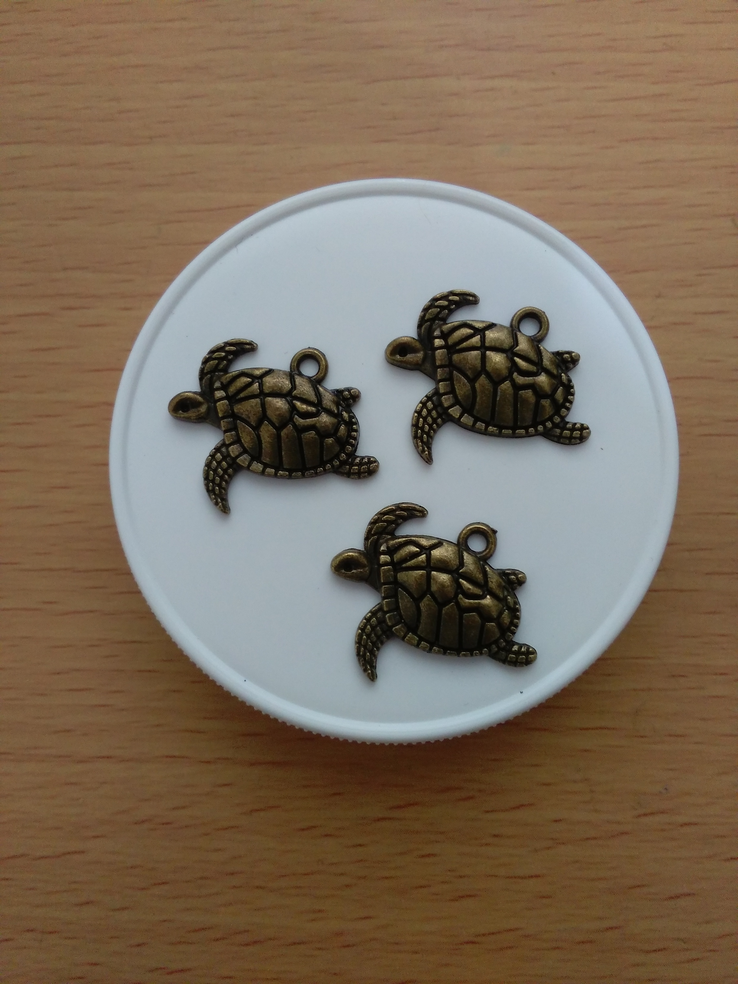 Antique Bronze Turtle Charms