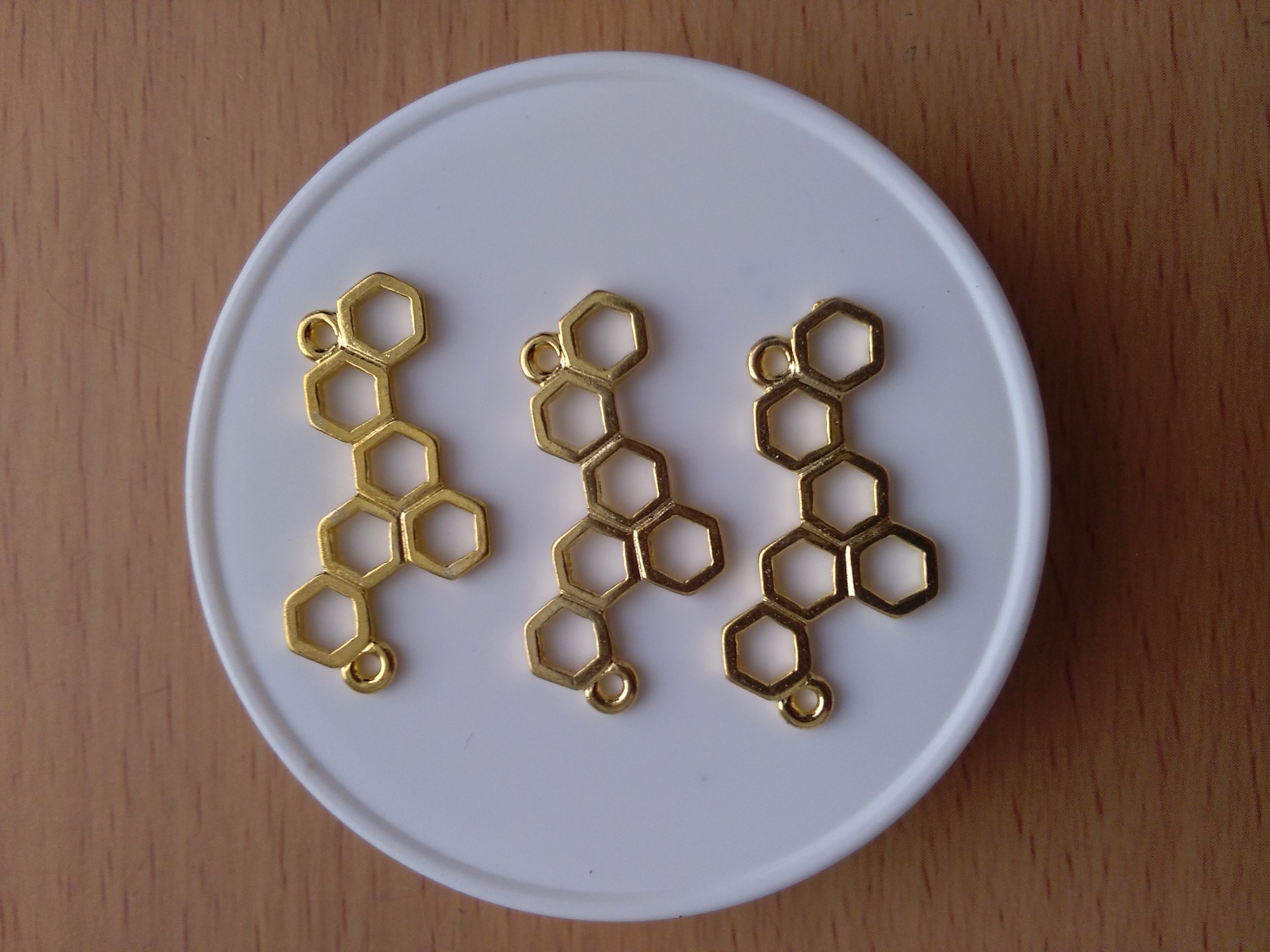 Gold Toned Charity Honeycomb Connector