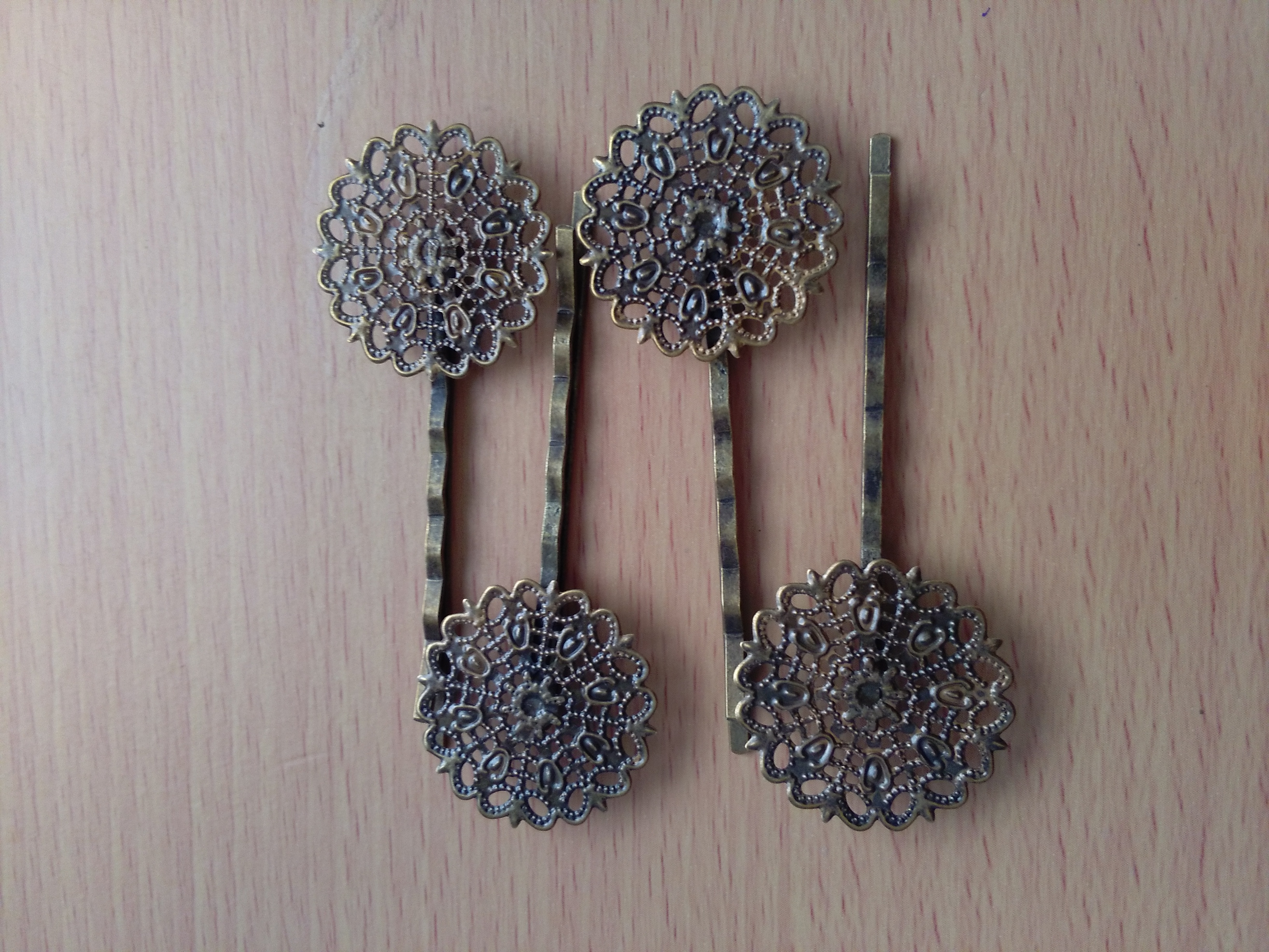 Antique Bronze Filligree Hair Clip