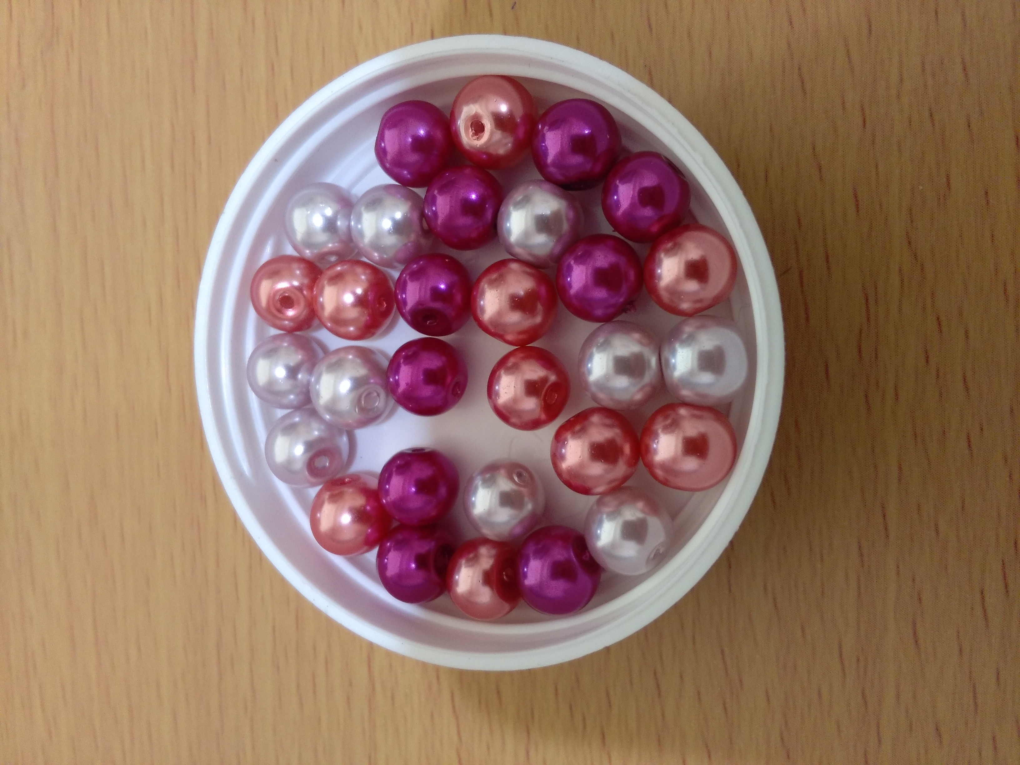 Glass Pearl 8mm Mix Pink