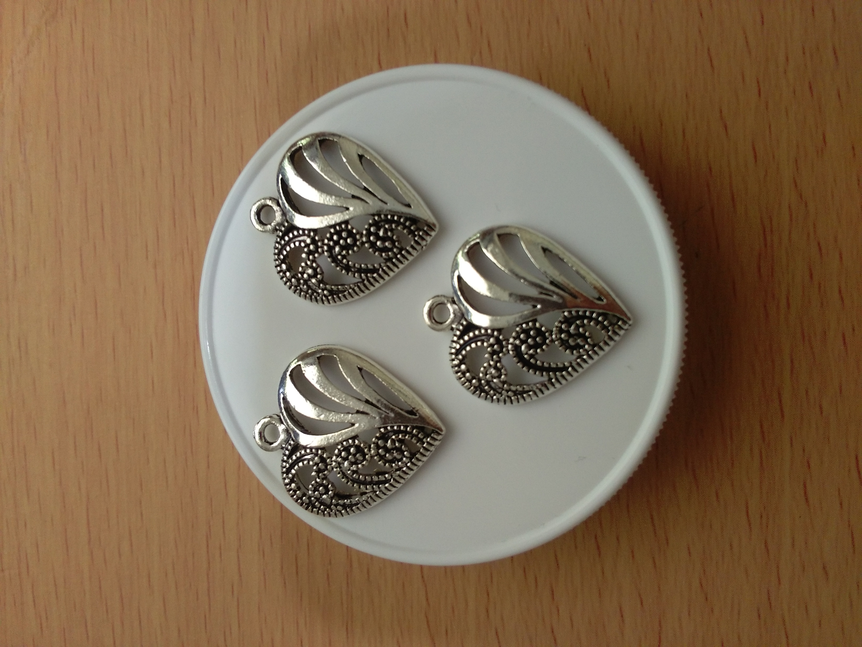 Tibetan Silver Filigree Heart 20mm