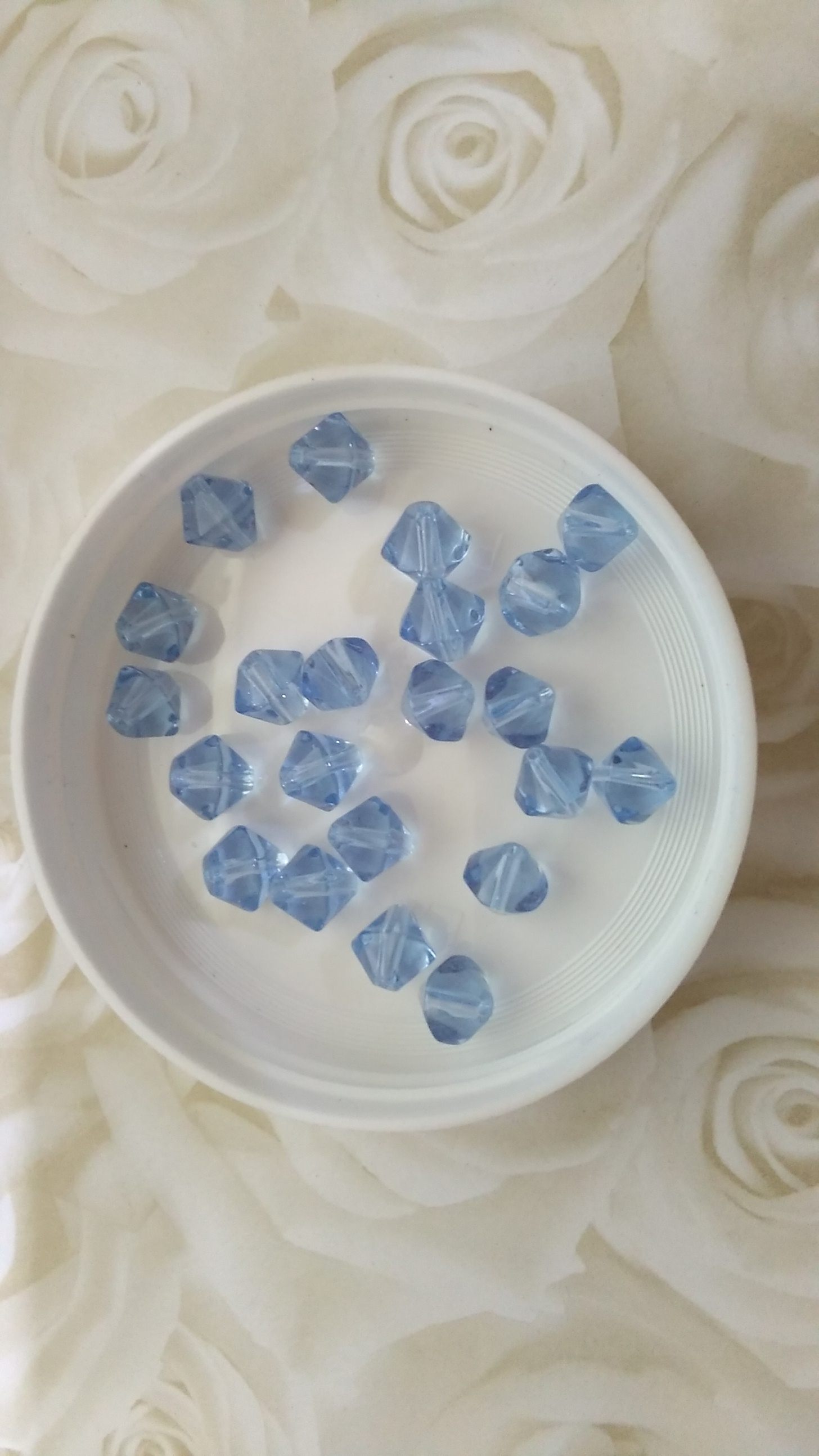 Glass Pale Blue 8mm Bicone