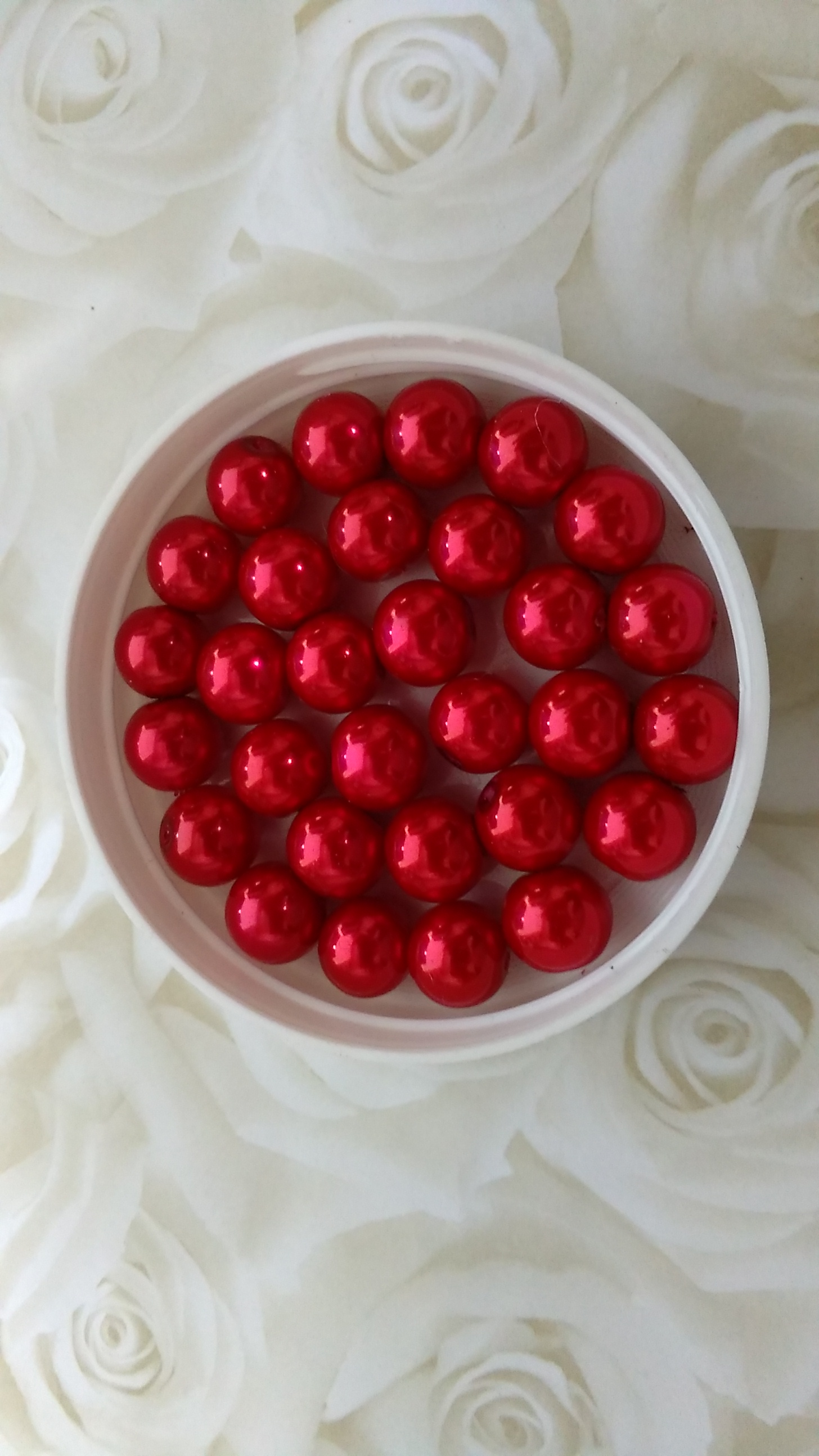 Glass Pearl 10mm Bright Red