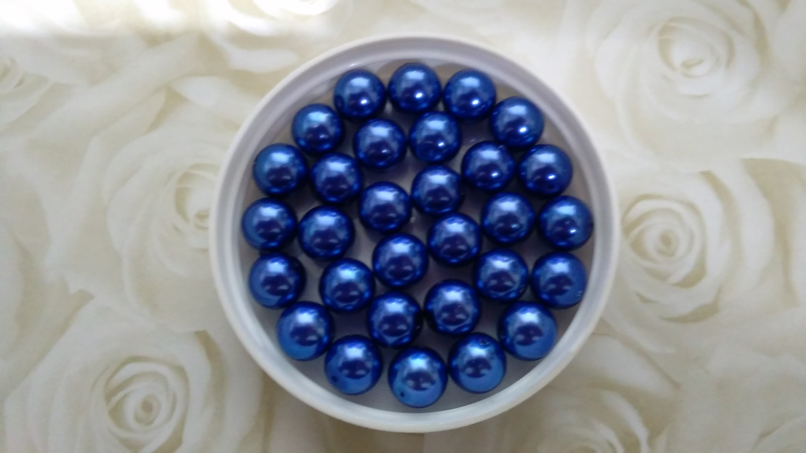 Glass Pearl 10mm Bright Dark Blue