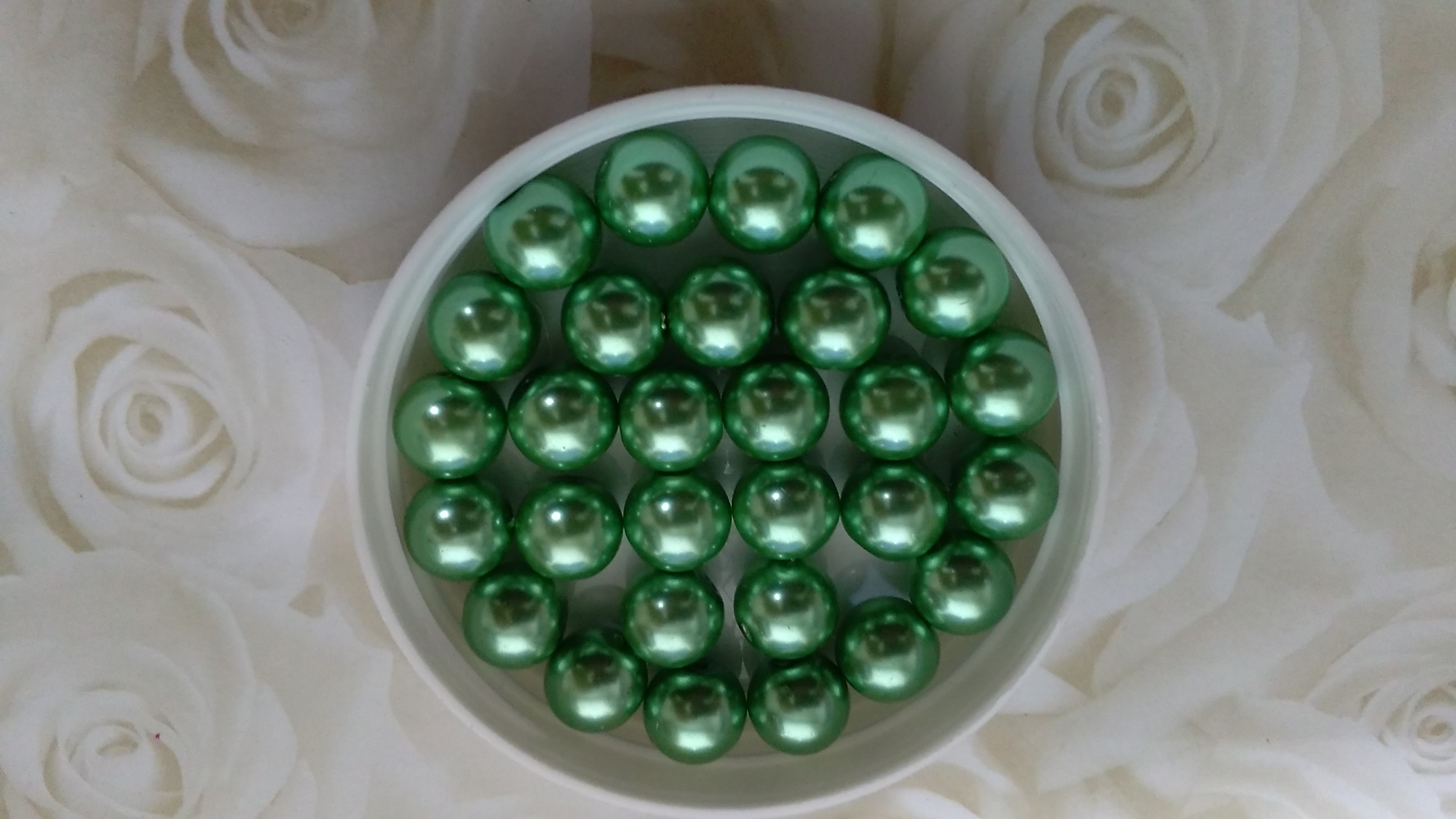 Glass Pearl 10mm Mint Green