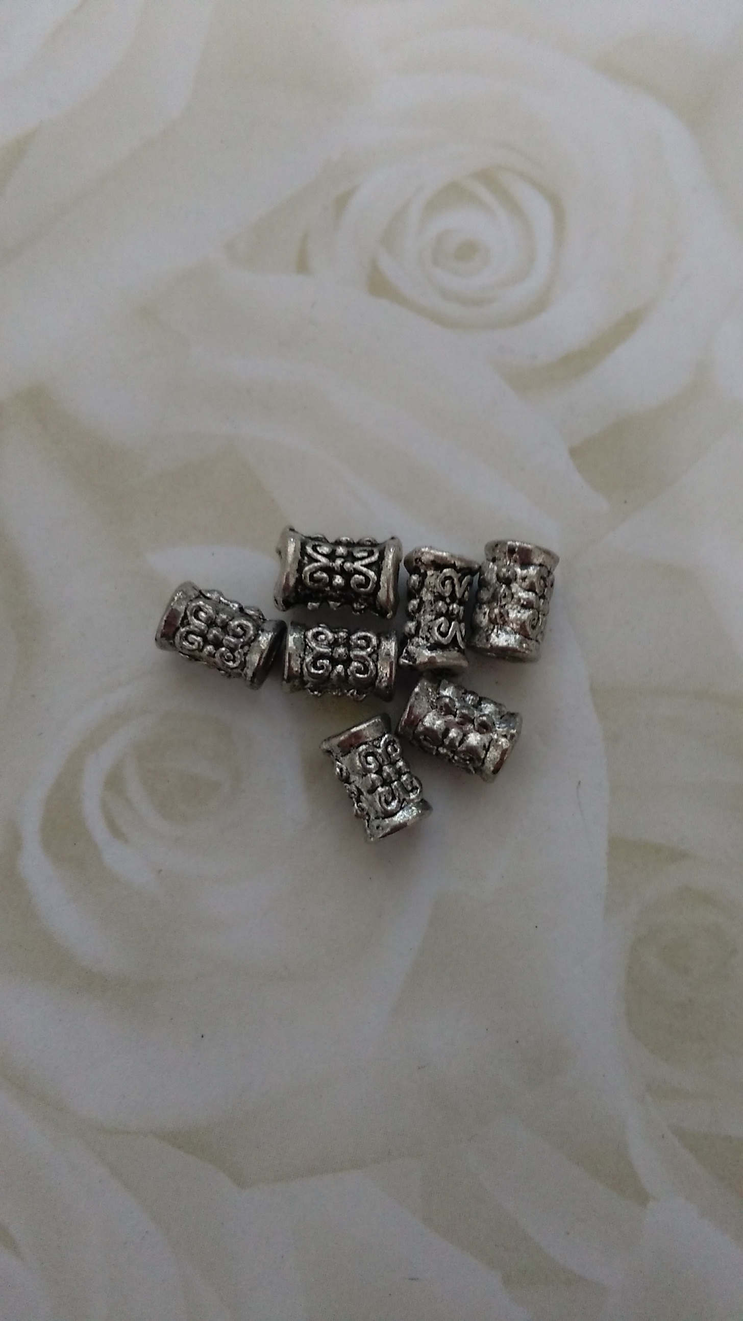Tibetan Silver Ornate Bead