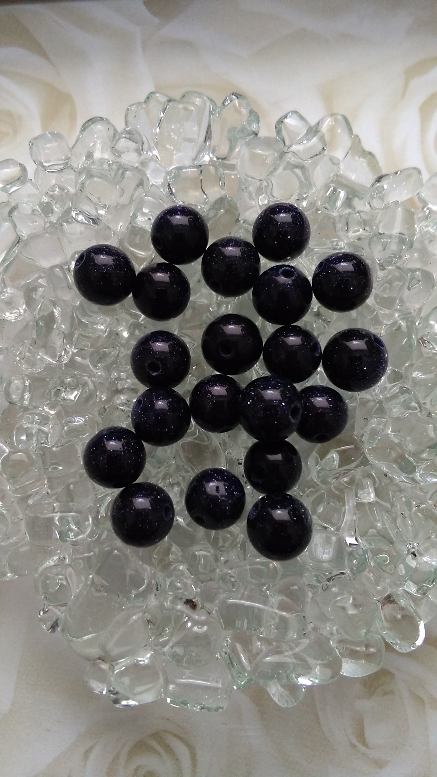 Black Goldstone 8mm Beads