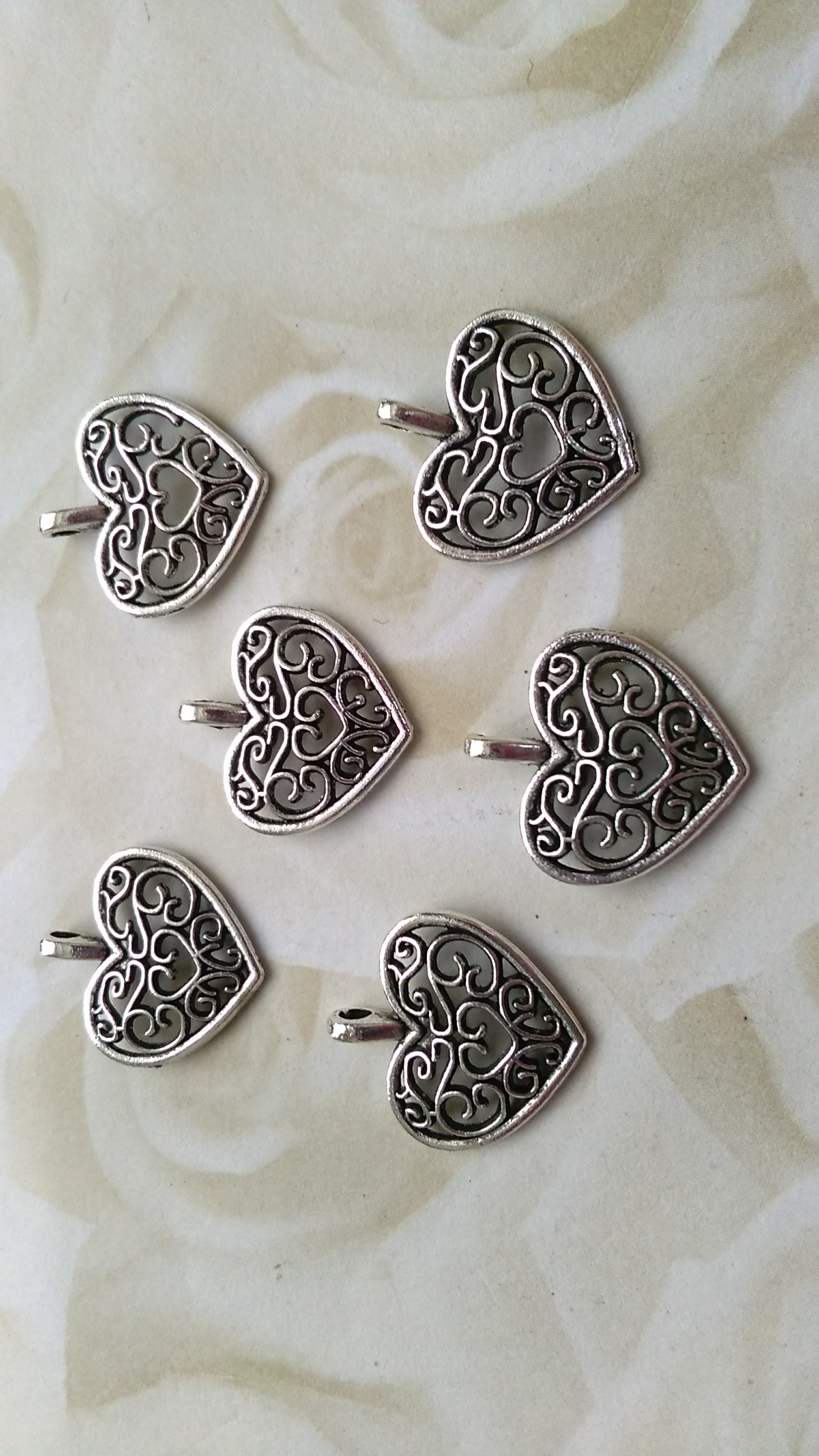 Tibetan Silver Ornate 15mm Charm
