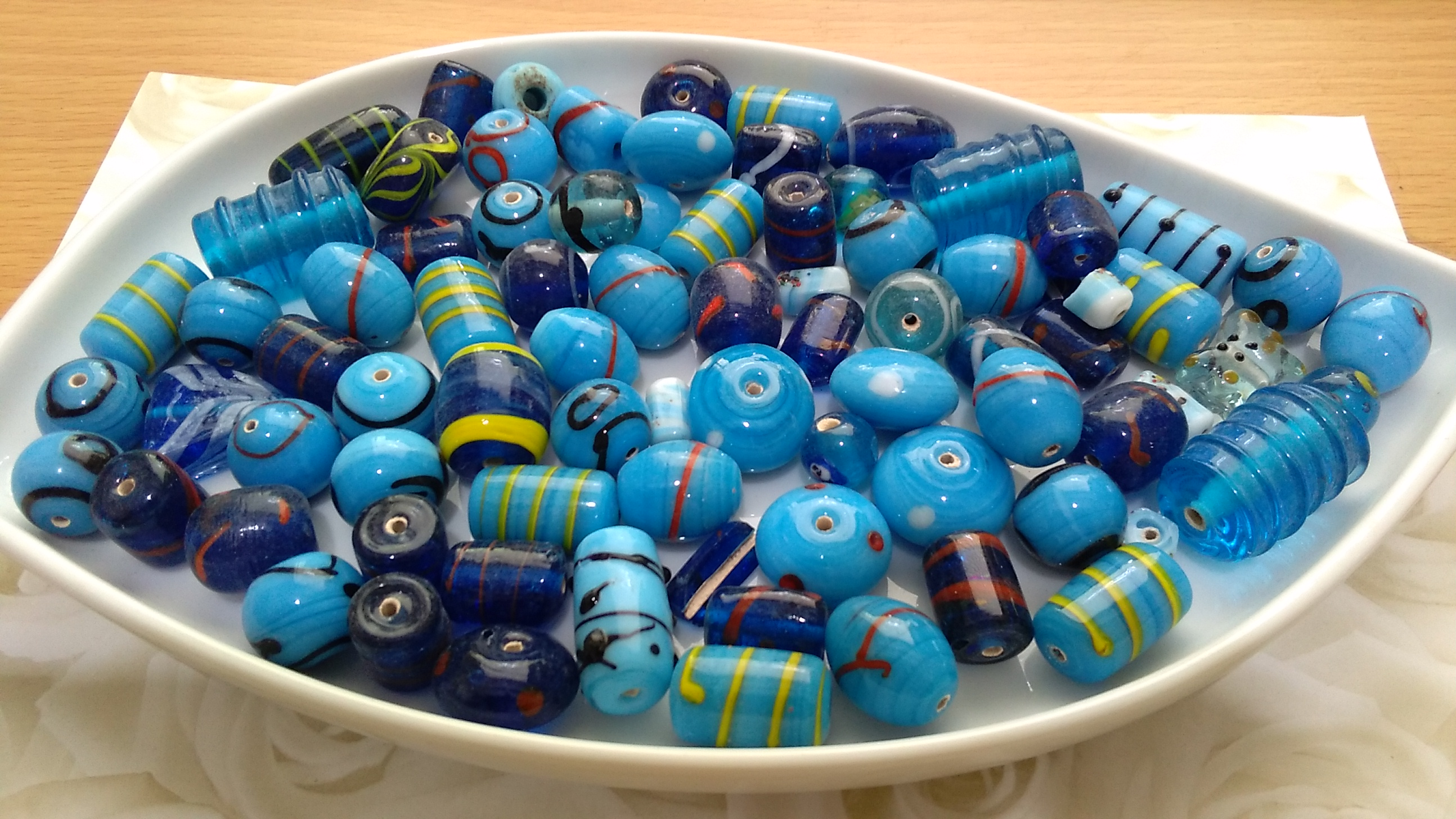 Turquoise Fancy Bead Mix 100g