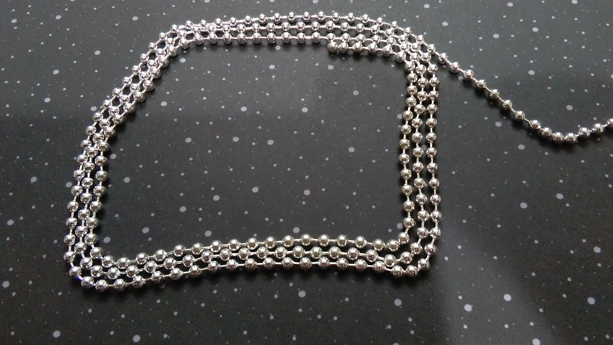 Antique Silver Ballbead Chain 2.4mm