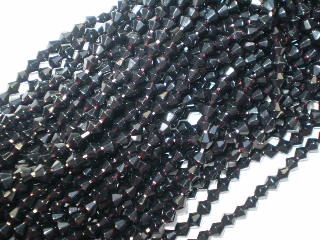 Jet Crystal Bicone 4mm