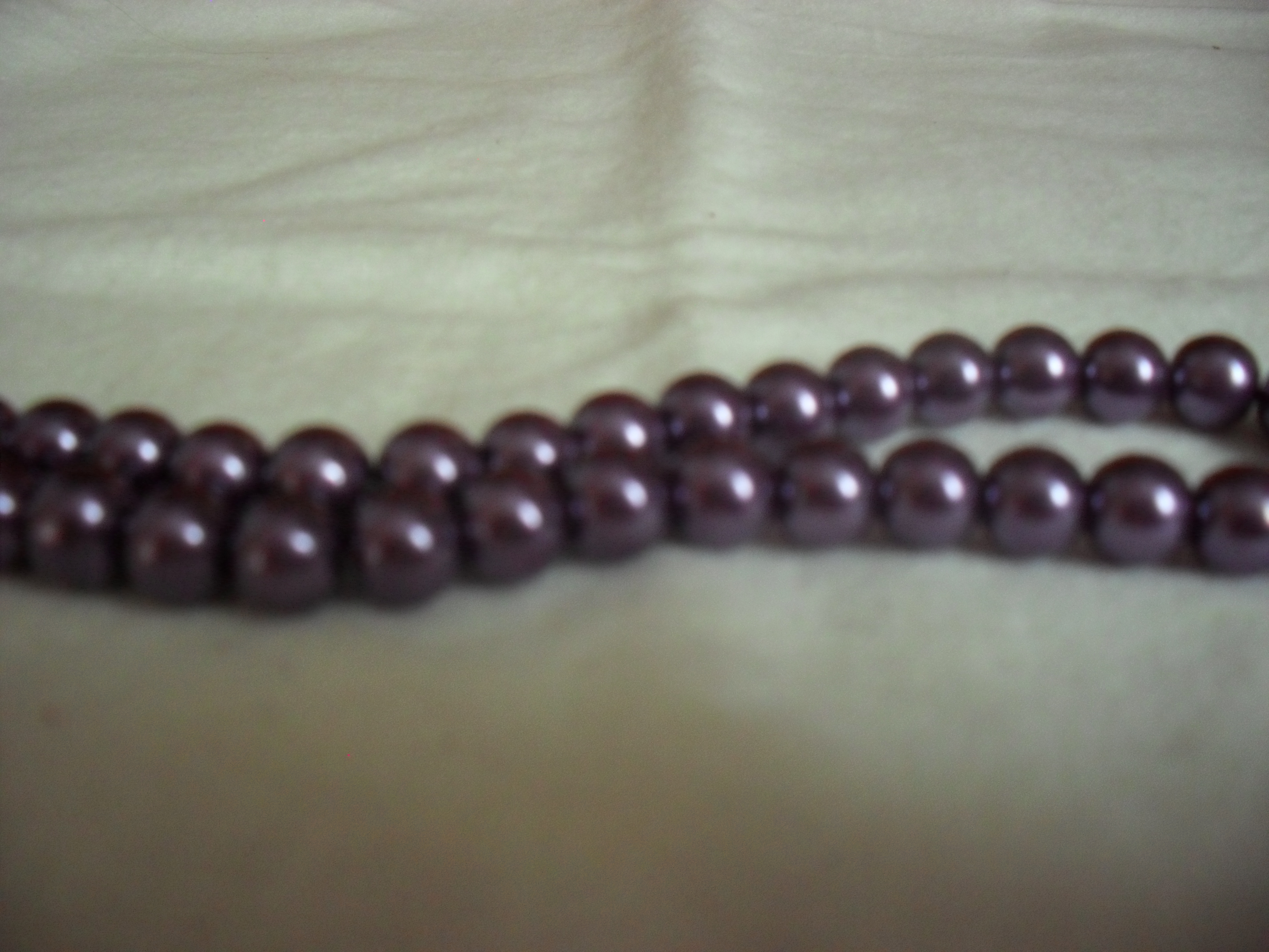 Glass Pearl 8mm Jewel Mauve