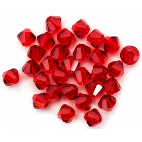 Swarovski Crystal Lt Siam Red 6mm Bicone