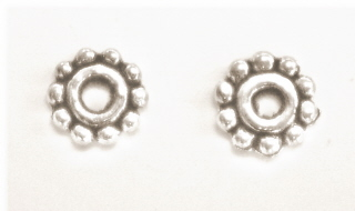 Tibetan Silver Daisy Spacers