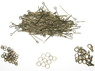Antique Bronze Findings/Fastenings Pack