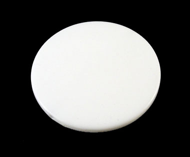 White Acrylic Flat Round Bead 31mm - each