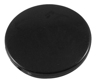 Black Acrylic Flat Round Beads 31mm