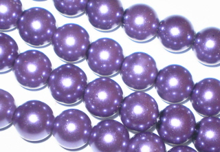 Grape Glass Pearls 10mm
