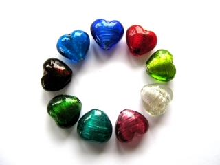 Foil Glass Heart Mix