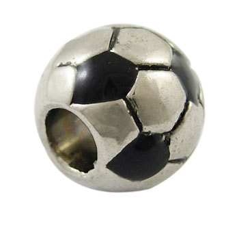 Silver Plated Charm - Football