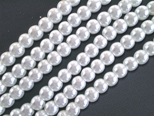 White Glass Pearls 6mm
